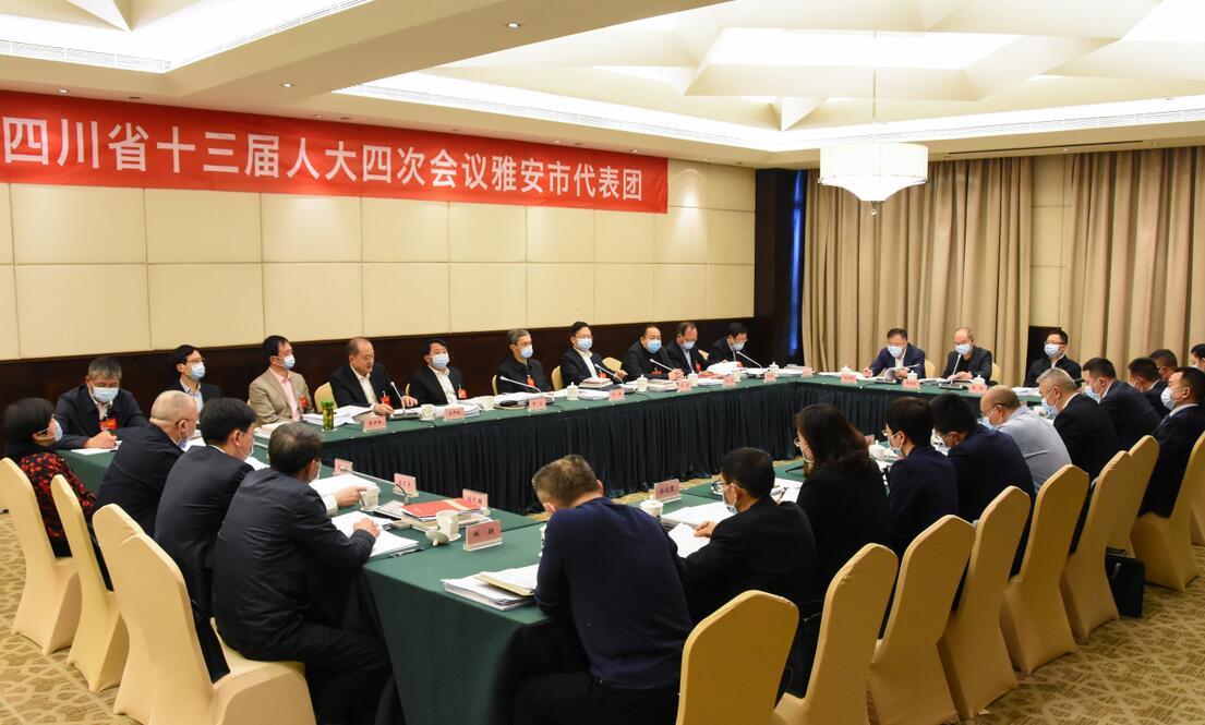 雅安代表团举行第二次会议