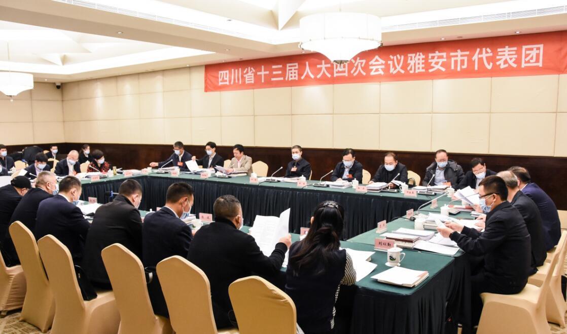 雅安代表团举行第五、六次会议